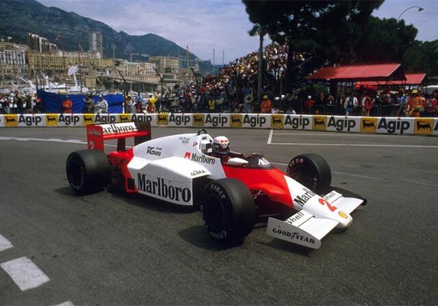 Alain Prost en el GP de Mónaco de 1985