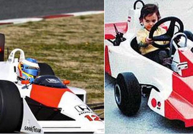Fernando Alonso disfrutó 'como un niño' en el coche de Ayrton Senna