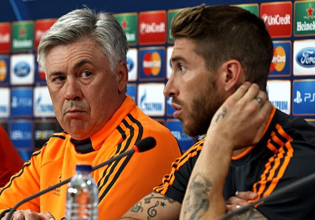 Sergio Ramos también arropa a Ancelotti