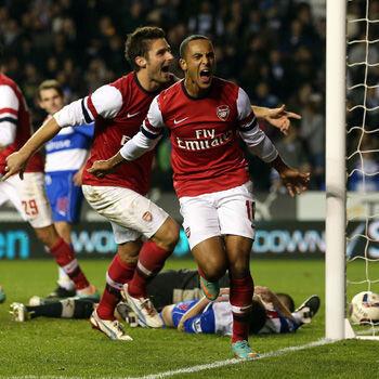 Walcott y Giroud, jugadores del Arsenal