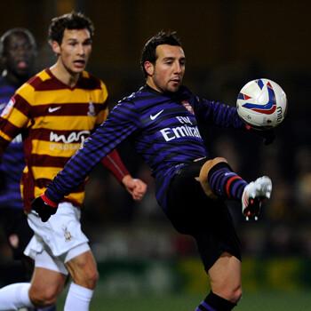Cazorla, jugador del Arsenal