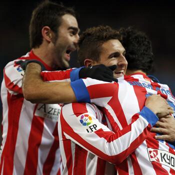 El Atlético celebra un gol de Koke