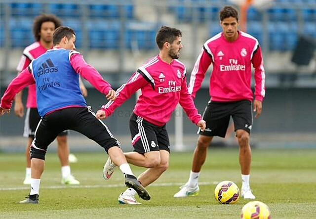 Isco protagonizó un divertido momento en el entrenamiento del Real Madrid. 106faa4109412