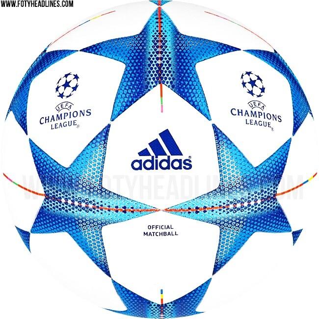 Los balones de la final de la Champions 2016, Europa League y Bundesliga