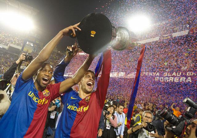 Cinco años del Barça de las seis copas