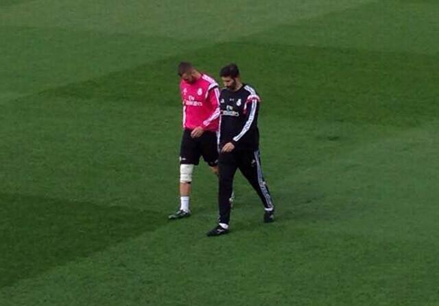 Benzema, otra baja para el derbi: sufre un esguince de rodilla