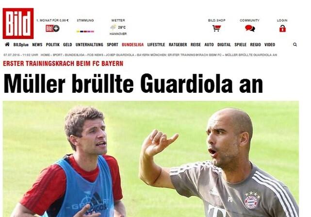 Así fue la bronca entre Guardiola y Muller en el entrenamiento