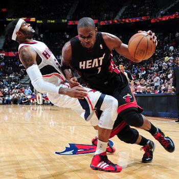 Bosh lidera a Miami a falta de Wade y LeBron