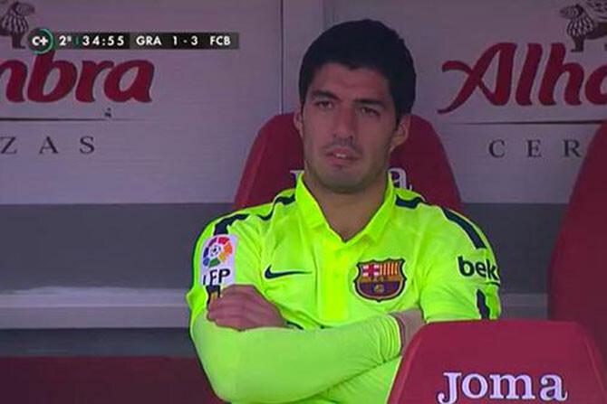 El cabreo de Luis Suárez