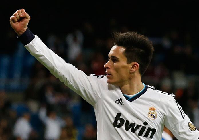 Callejón, celebra un gol