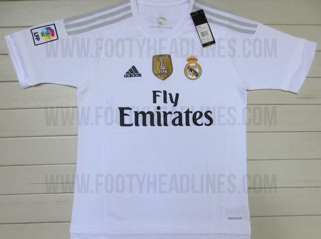 9f730b43eaac8 La web  Footyheadlines  ha filtrado los diseños de las dos primeras  camisetas del Real Madrid de la próxima temporada. Entre los nuevos  detalles