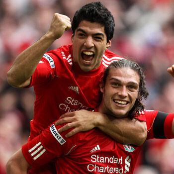 Liverpool, Everton, Tottenham y Chelsea buscan llegar a la gran final Carroll-suarez1