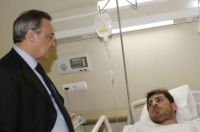 florentino visita a casillas en el hospital - SPORTYOU 20minutos