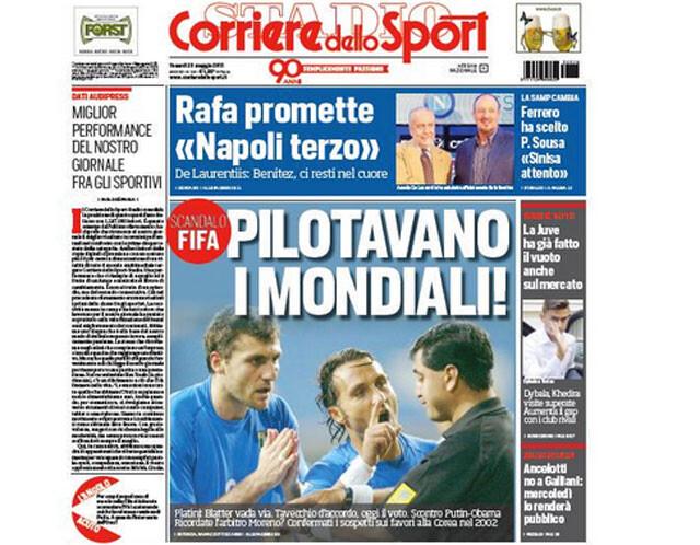 La FIFA arregló partidos para favorecer a Corea en el Mundial 2002, según 'Corriere dello Sport'