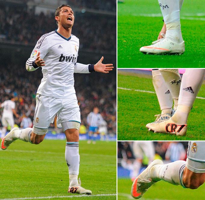 comentarios para Cristiano estrenó las botas de su homenaje