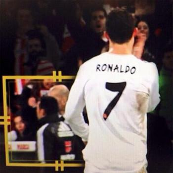 Cristiano Ronaldo y el cuarto árbitro