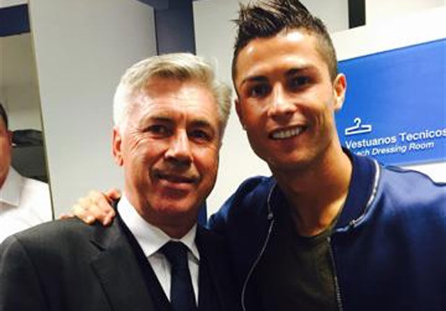 Cristiano Ronaldo se moja por Ancelotti