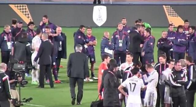 VÍDEO. El detalle de Ancelotti con San Lorenzo durante la celebración