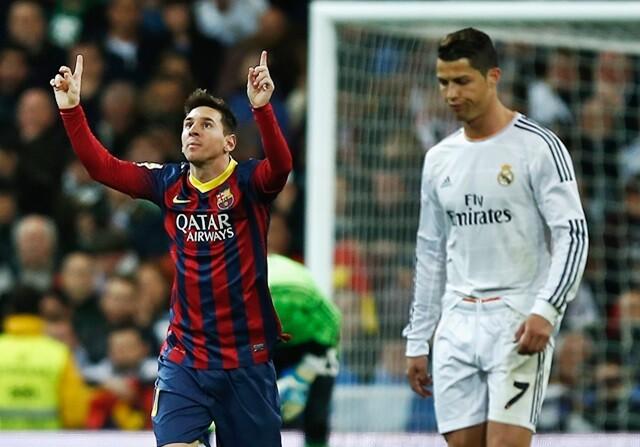Leo Messi y Cristiano Ronaldo, durante un Madrid-Barça