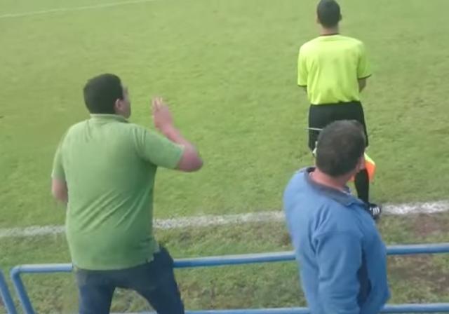 """Los indignantes gritos de dos energúmenos a un árbitro: """"Ojalá te mates en el avión"""""""
