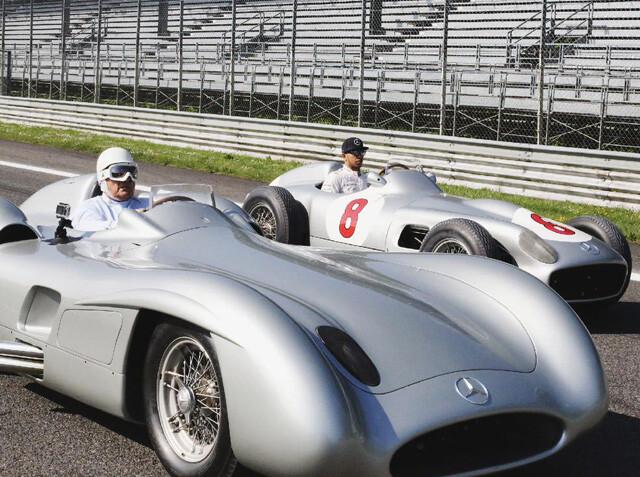 Hamilton viaja en el tiempo hasta la Fórmula 1 de los años 50