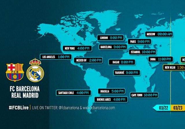 A qu hora se juega el cl sico bar a madrid sportyou for A que hora juega el barcelona hoy