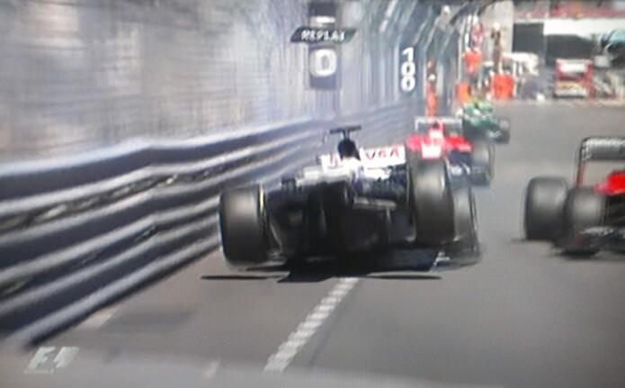 FOTO. Accidente de Pastor Maldonado en el Gran Premio de Mónaco