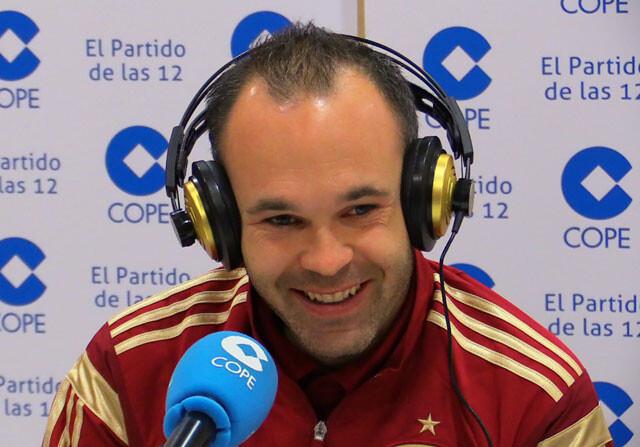 """Iniesta: """"No me gustaría que se pite el himno en la final"""""""