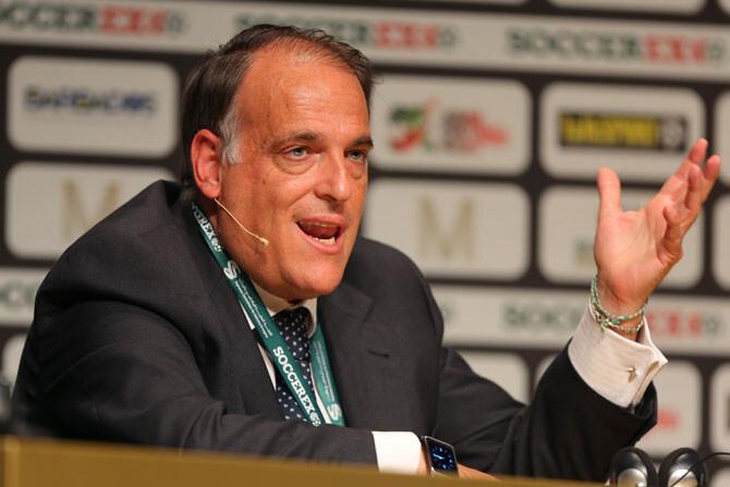 Javier Tebas, 'vetado' en la final de Copa del Rey