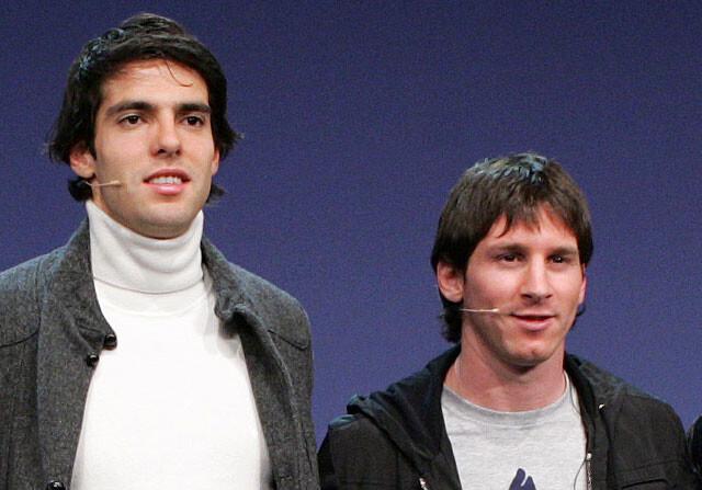 Kaká deja fuera a Leo Messi de su once mundial