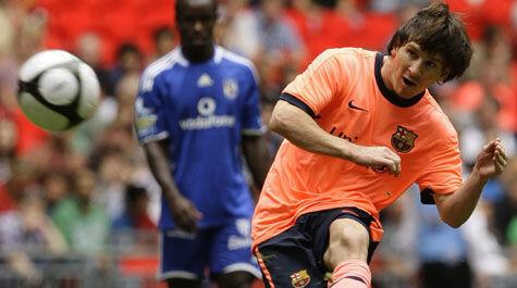 Leo Messi, con el Barcelona