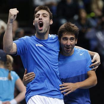 Final Copa Davis. Lopez-granollers-3501