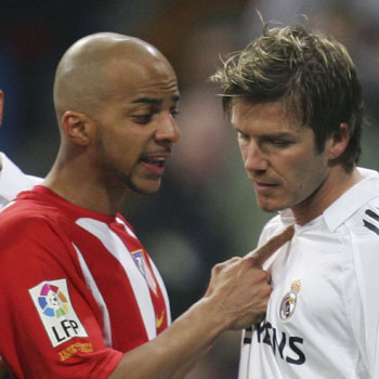 Peter Luccin y David Beckham