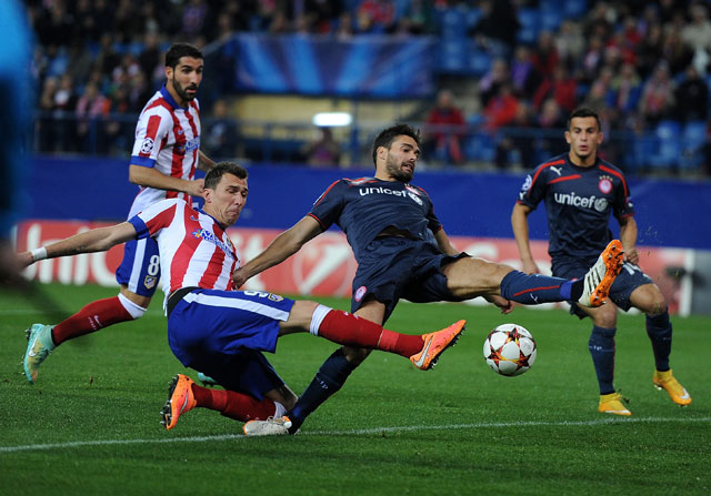 Mandzukic pone las cosas en su sitio con Olympiacos