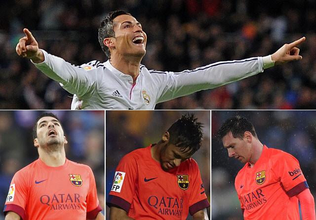 Cristiano Ronaldo lleva más goles que el tridente del Barça