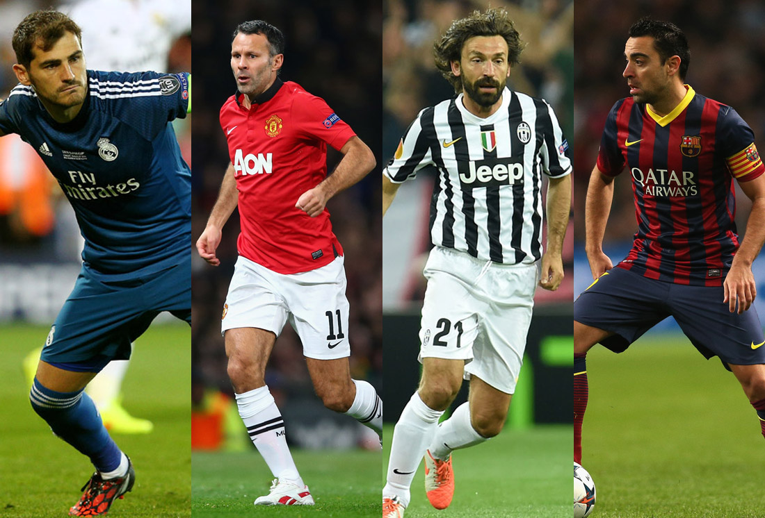 Los 30 jugadores con más partidos en la Champions League