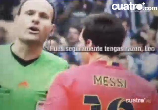 La charla de Mateu Lahoz con Messi