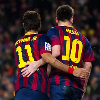 Neymar dice que no le molestó ir al banquillo en vez de Messi