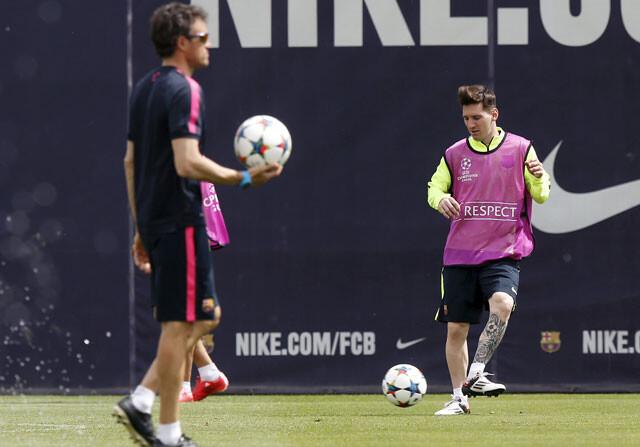 Luis Enrique y Leo Messi