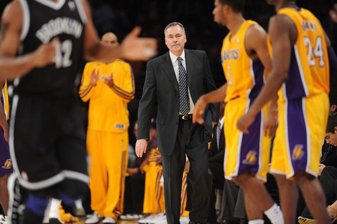 Mike D'Antonim entrenador de Los Angeles Lakers