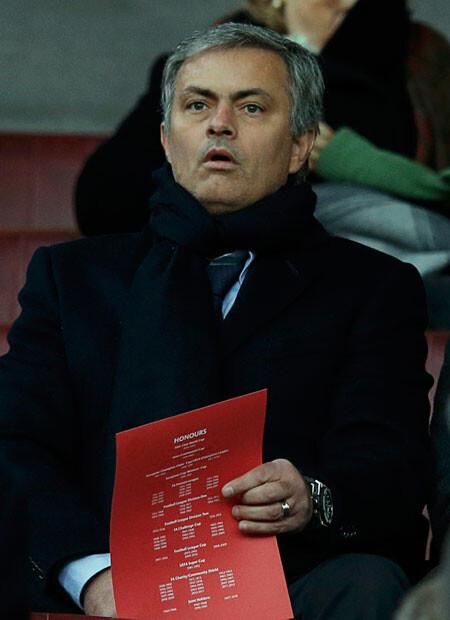 José Mourinho, en Old Trafford para ver el Manchester United - Everton