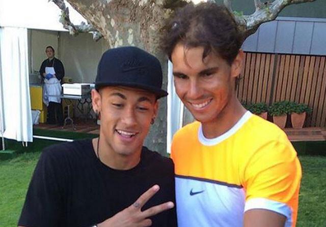 Neymar y Rafa Nadal