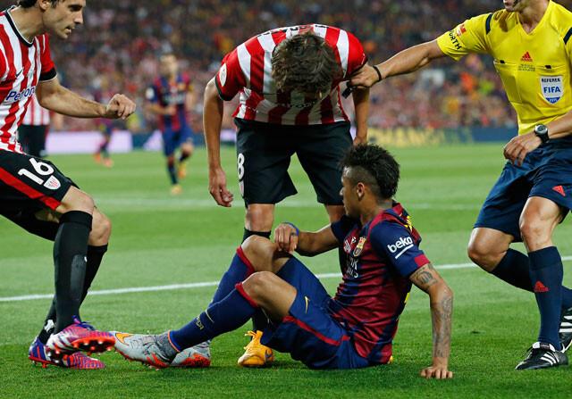 Los jugadores del Athletic, irritados con Neymar