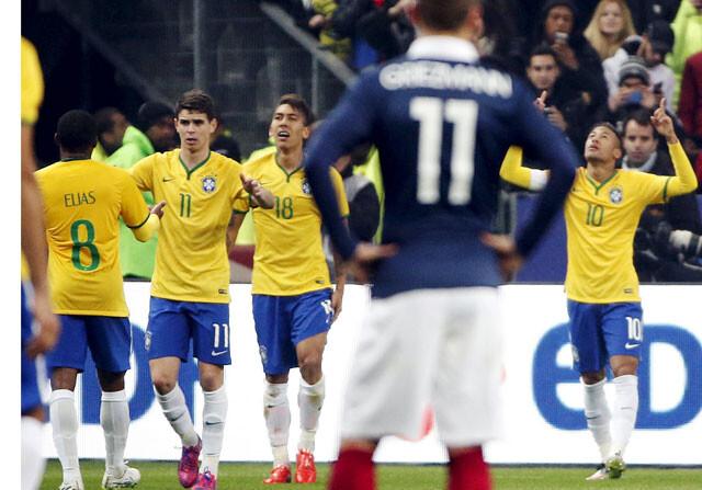 Oscar y Neymar tumban a Francia