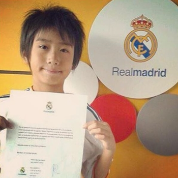 real madrid niño japones