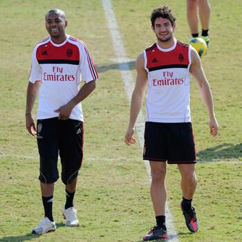 Pato y Robinho, jugadores del Milan