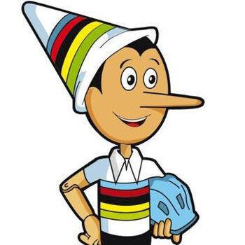 Pinocho, mascota del Mundial de Ciclismo 2013