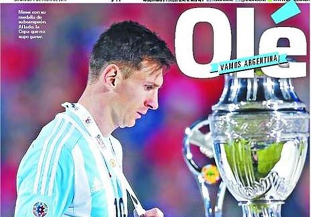 Críticas a Messi en la prensa argentina