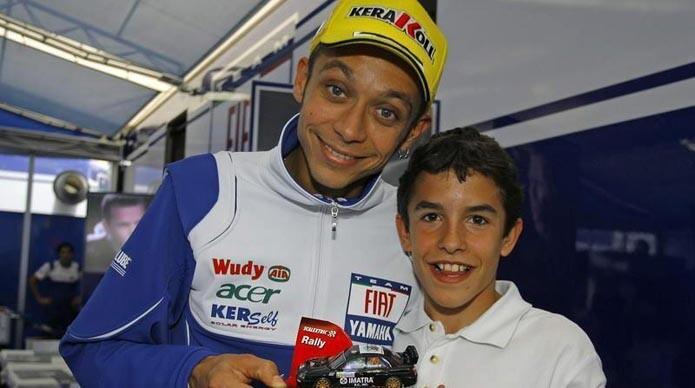 FOTO: Valentino Rossi y Marc Márquez hace 7 años