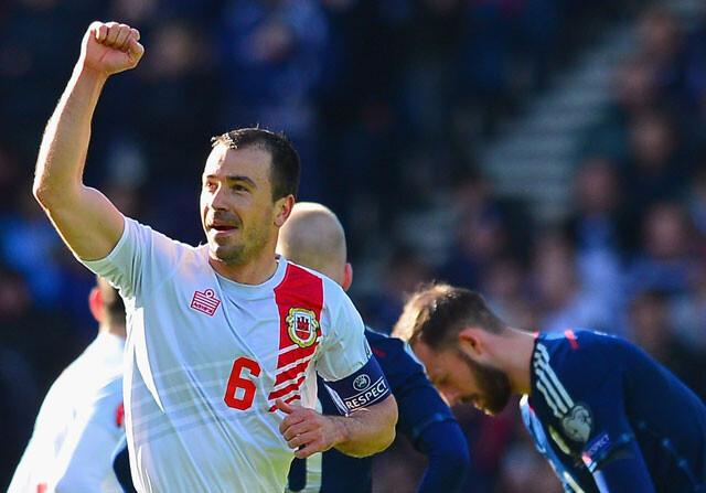 Gibraltar marca su primer gol en una fase de clasificación... pero cae goleado